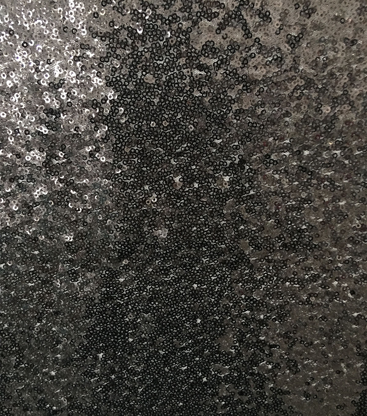 All Over Sequin Fabric 56\u0022-Black