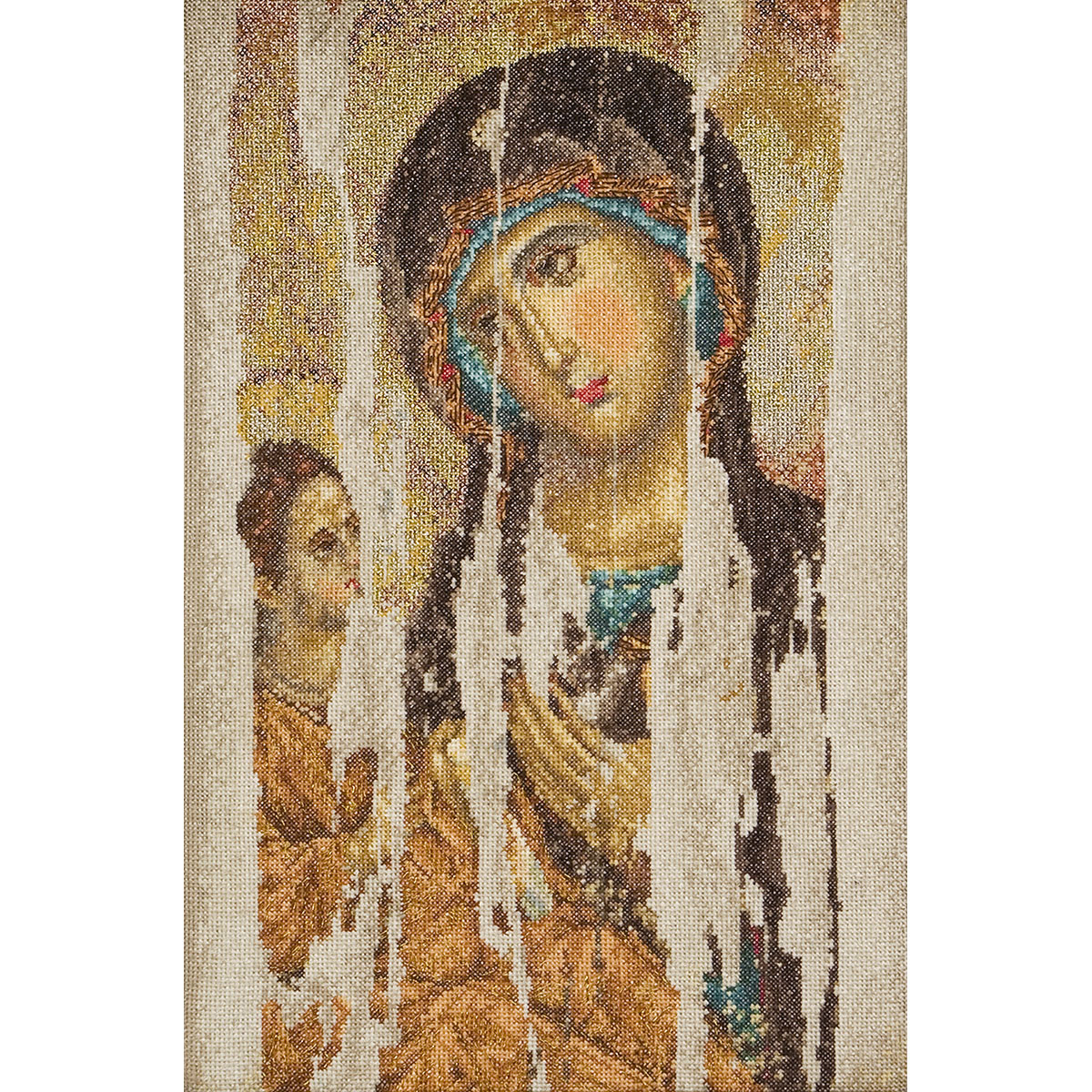 Thea Gouverneur counted-cross-stitch Kit Icon Mother Of God On Aida ...