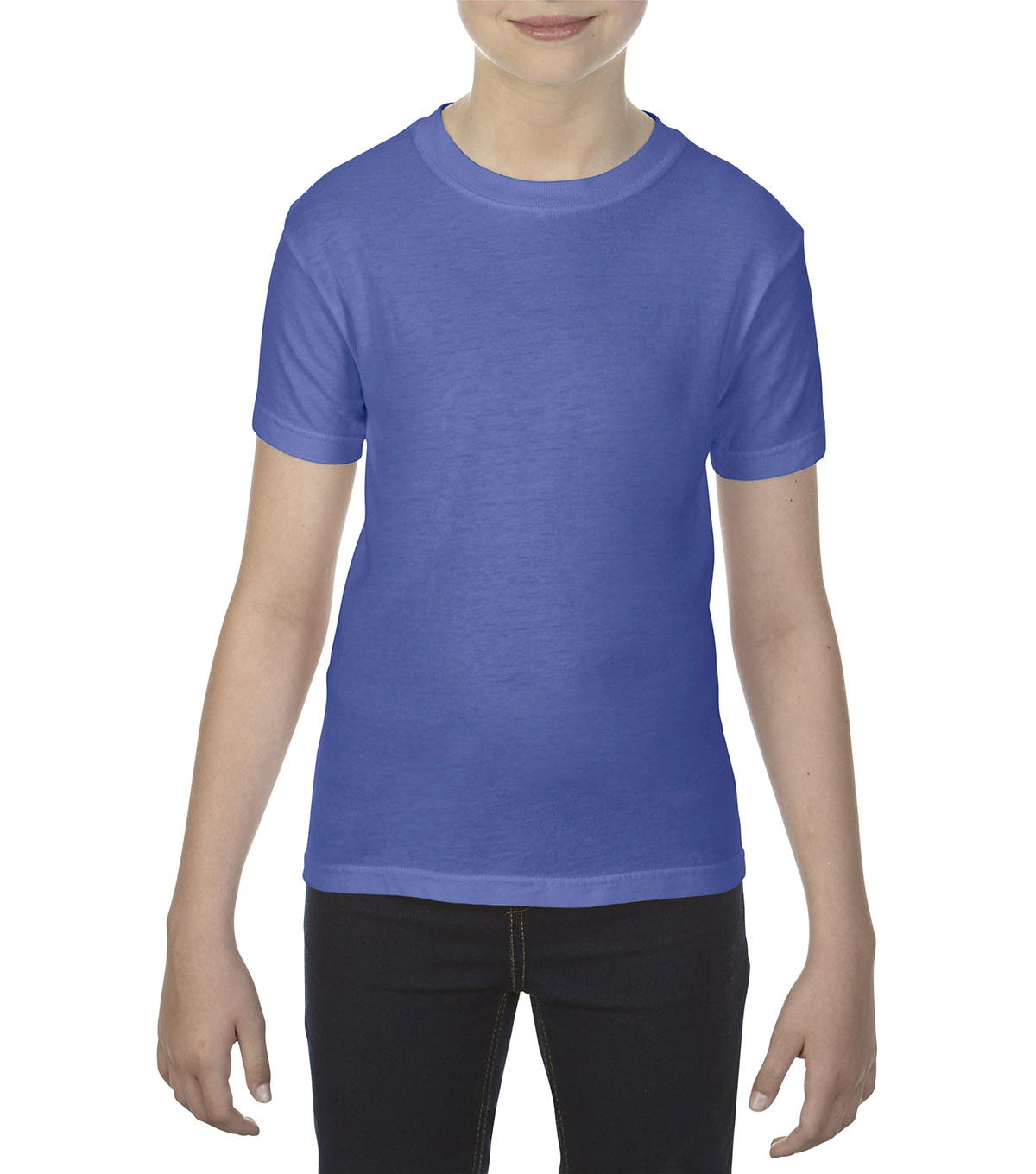 Gildan Comfort Colors 9018 Small Youth T-Shirt, Floblue