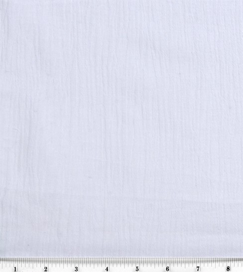 Sew Classic Specialty Cotton Gauze Fabric -Solid, White