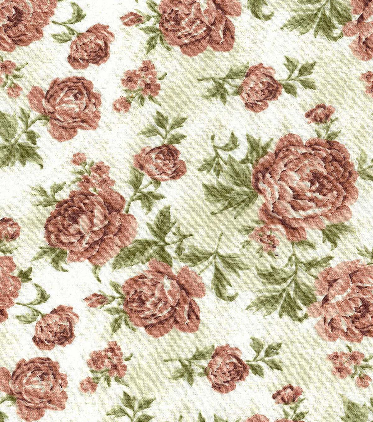 Premium Wide Cotton Fabric 108\u0022-Large Floral Orange