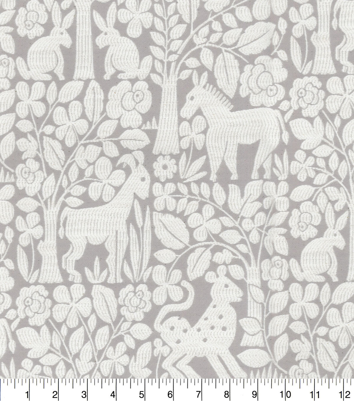 Waverly Upholstery Décor Fabric 9\u0022x9\u0022 Swatch-Forest Friends Mineral