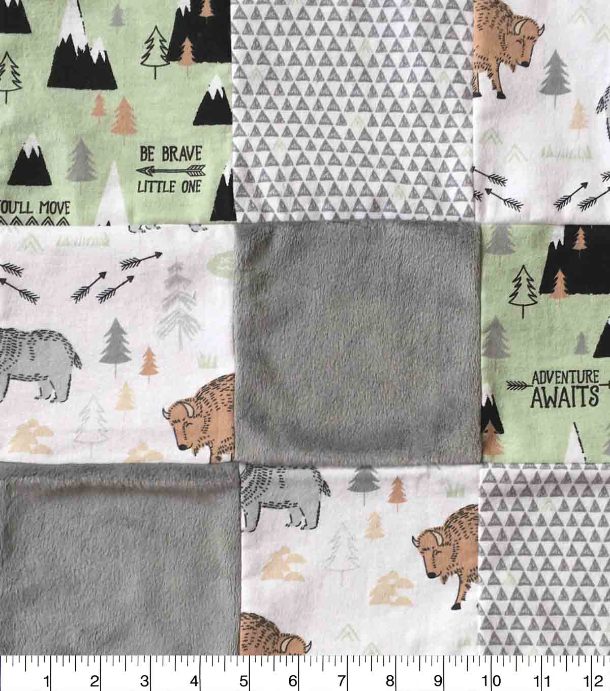 Nursery Fabric Boone Patchwork Quilt
