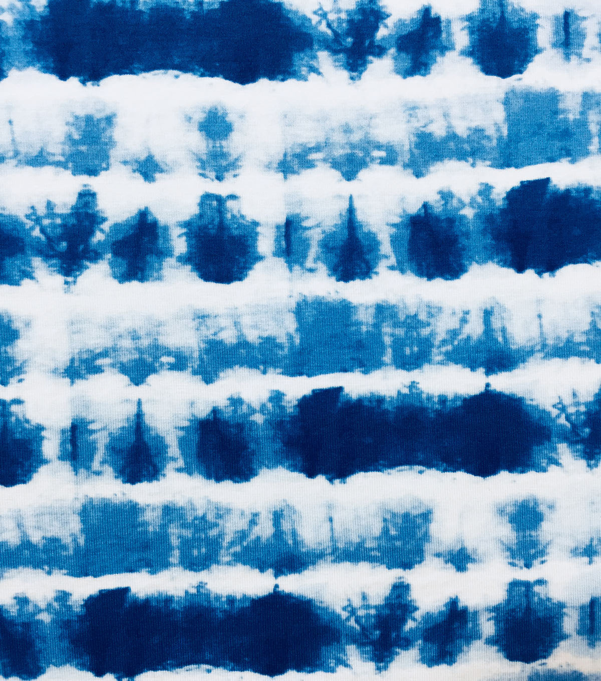 Knit Prints Rayon Spandex Fabric-Blue White Tie Dye