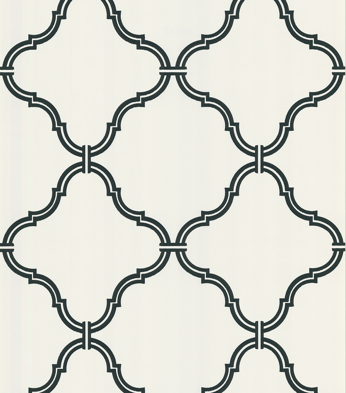 Estate White Moroccan Grate Wallpaper Sample