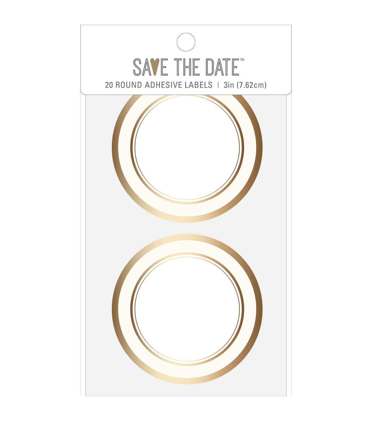 American Crafts Adhesive Labels-Gold Circle
