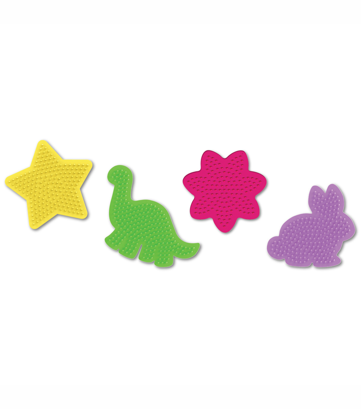 Perler Fun Fusion Bead Pegboards 4/Pkg-Small Assorted