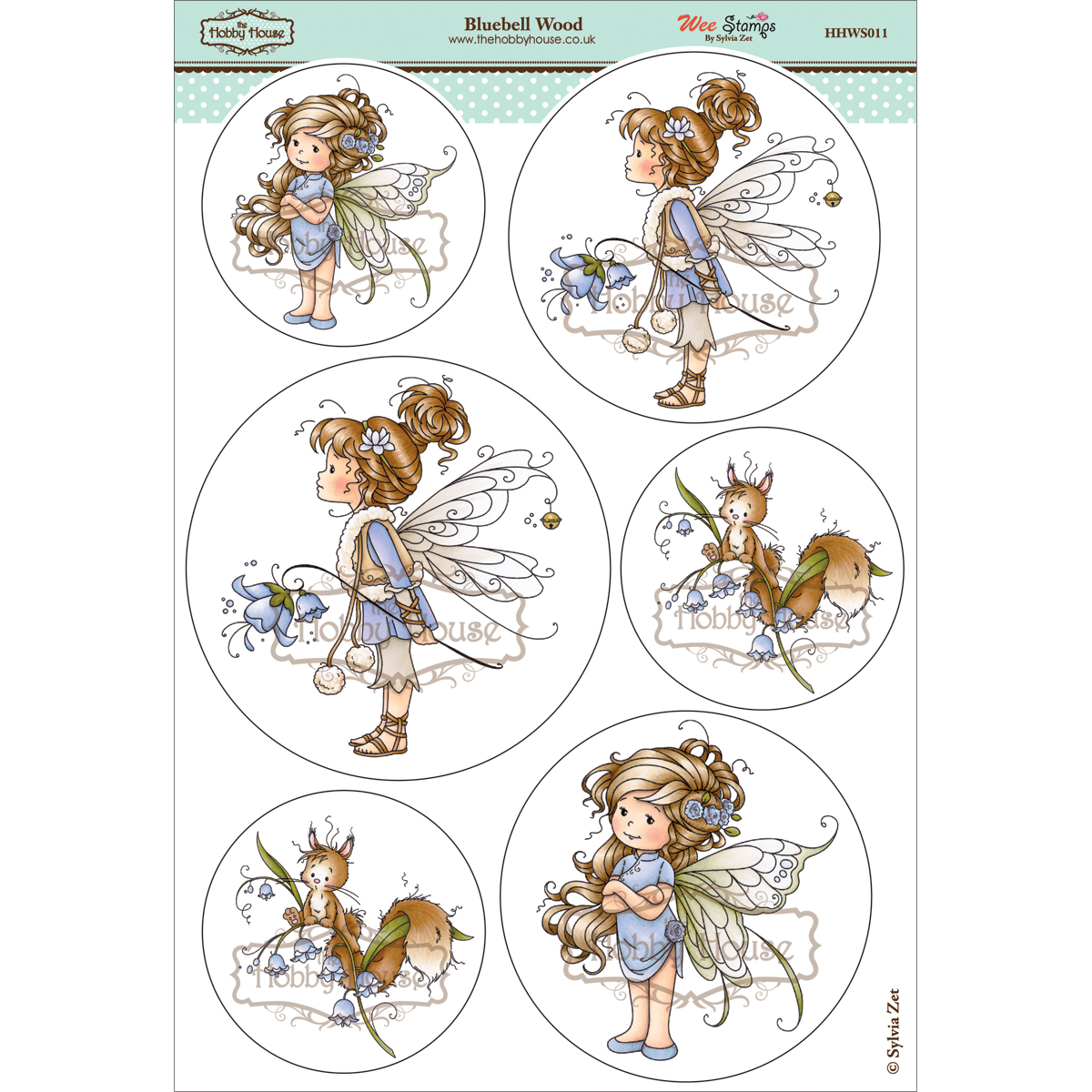 The Hobby House Wee Topper Sheet Bluebell Wood
