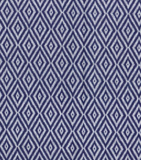 Modern Cotton Fabric -Packed Diamonds on Navy