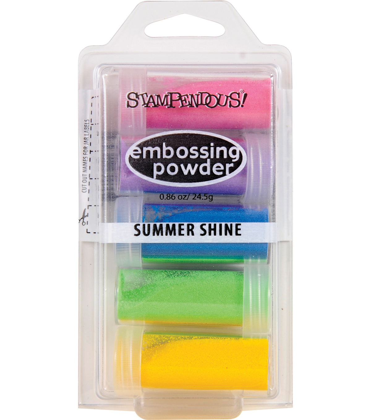 Stampendous 5 pk 0.86 oz. Embossing Powders-Summer Shine