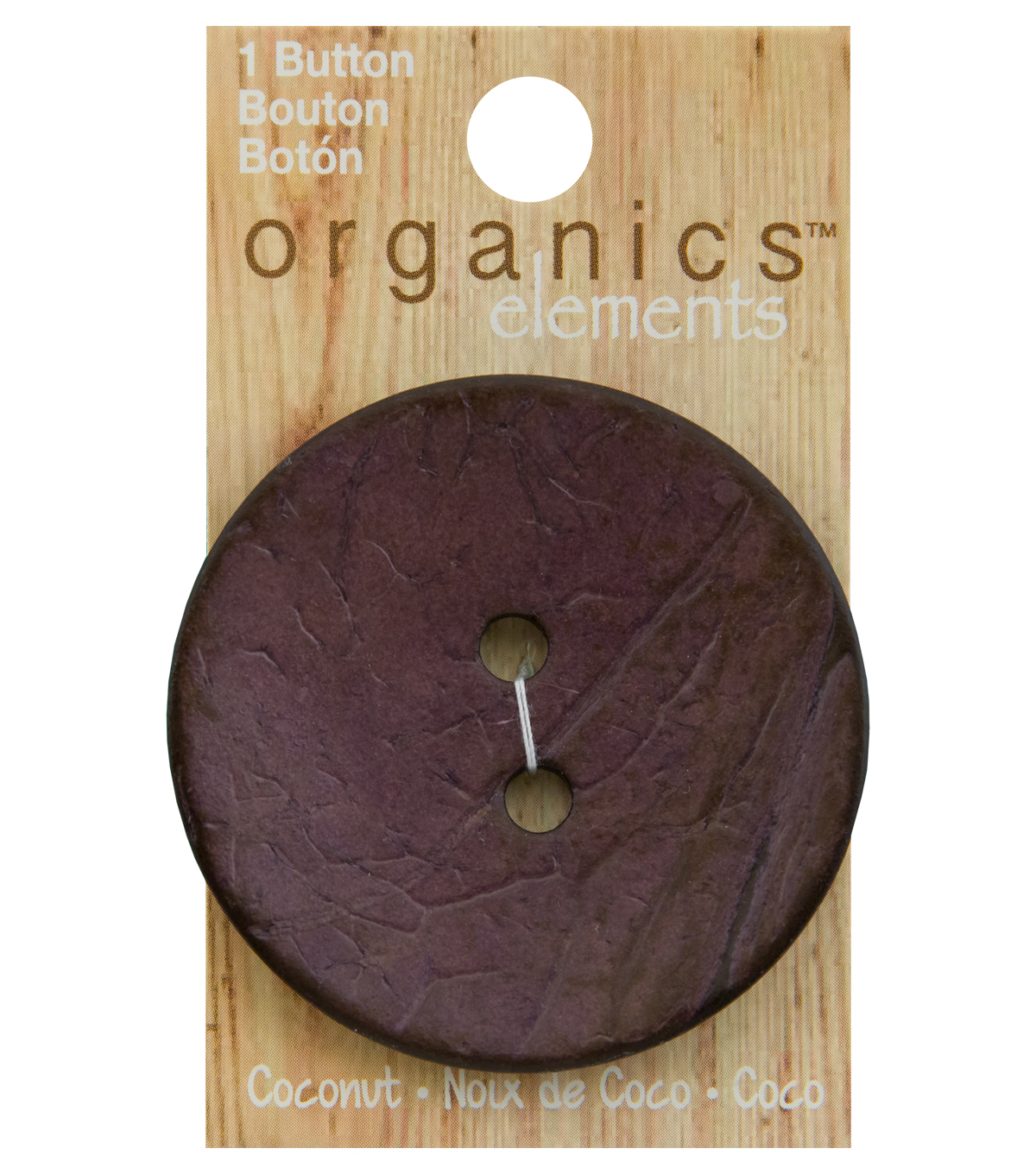 Organics Elements 2.5\u0027\u0027 Round Button-Matte Purple