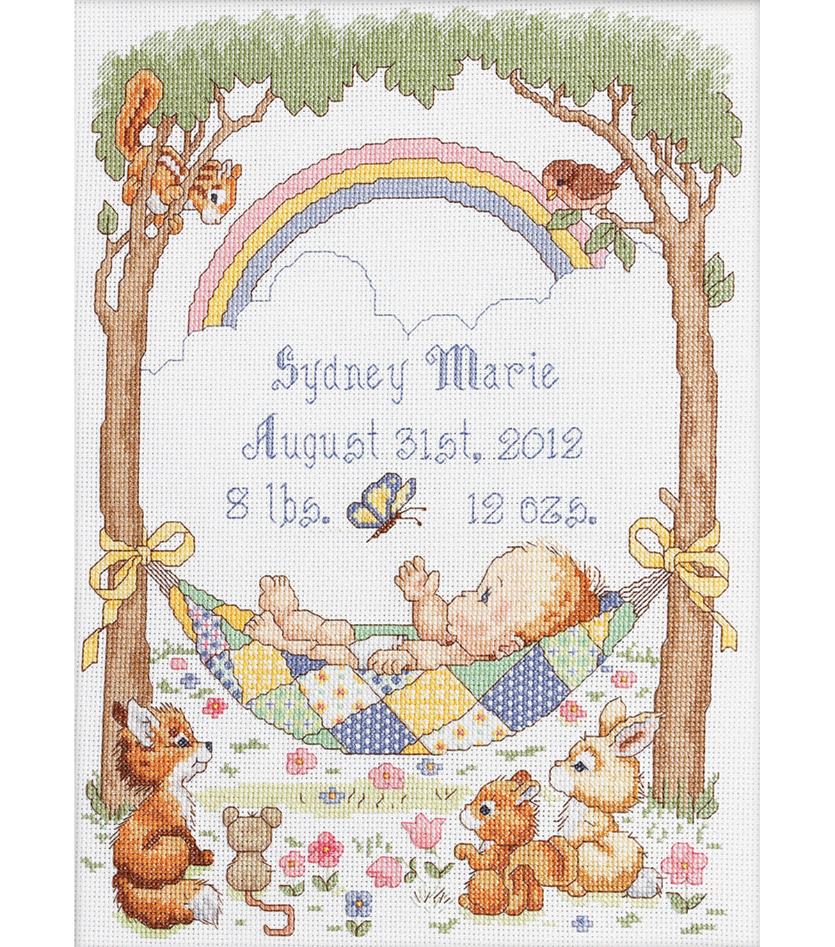 Bucilla Our Little Blessing Birth Record Counted Cross Stitch Kit