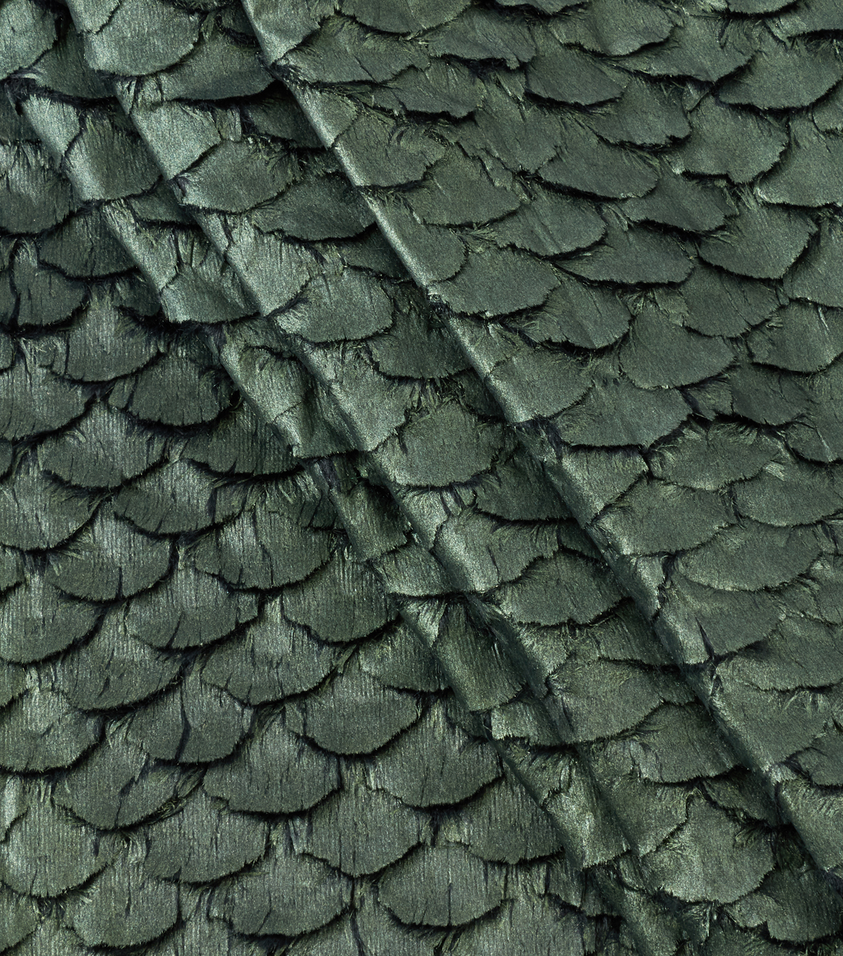 Cosplay By Yaya Han Metallic Faux Fur Scales Fabric 57\u0022-Green