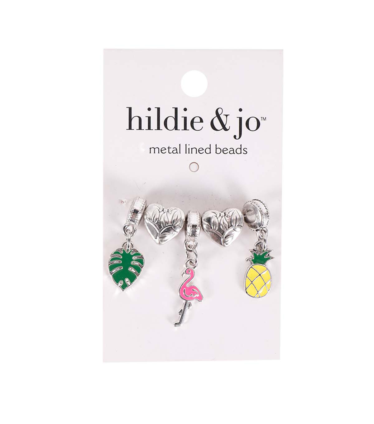 hildie & jo 5 pk Metal Lined Beads-Tropic