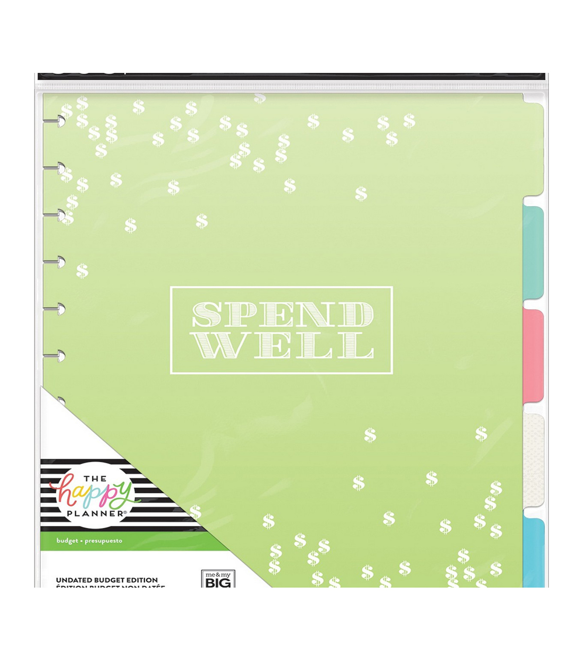 The Happy Planner Undated Budget Edition Big Planner Extension Pack