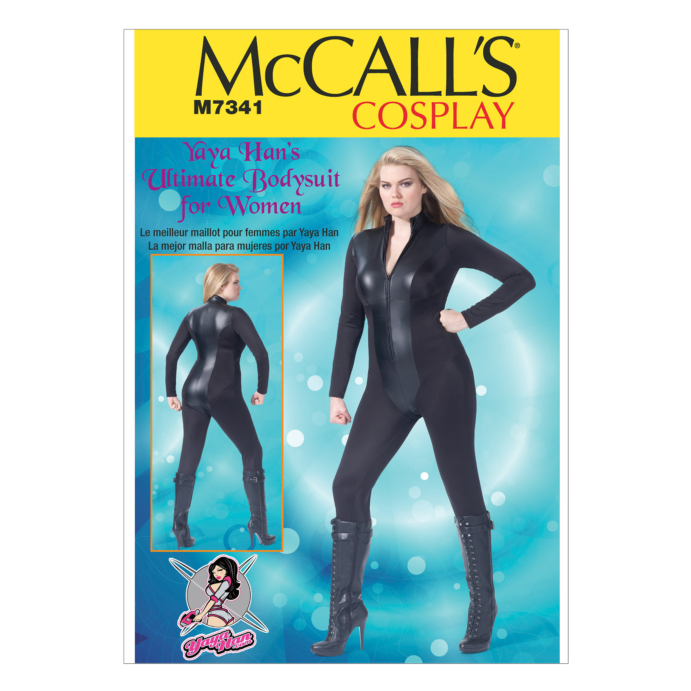 McCall\u0027s Pattern M7341-Women\u0027s Zippered Bodysuit by Yaya Han, Sizes 18w-20w-22w-24w