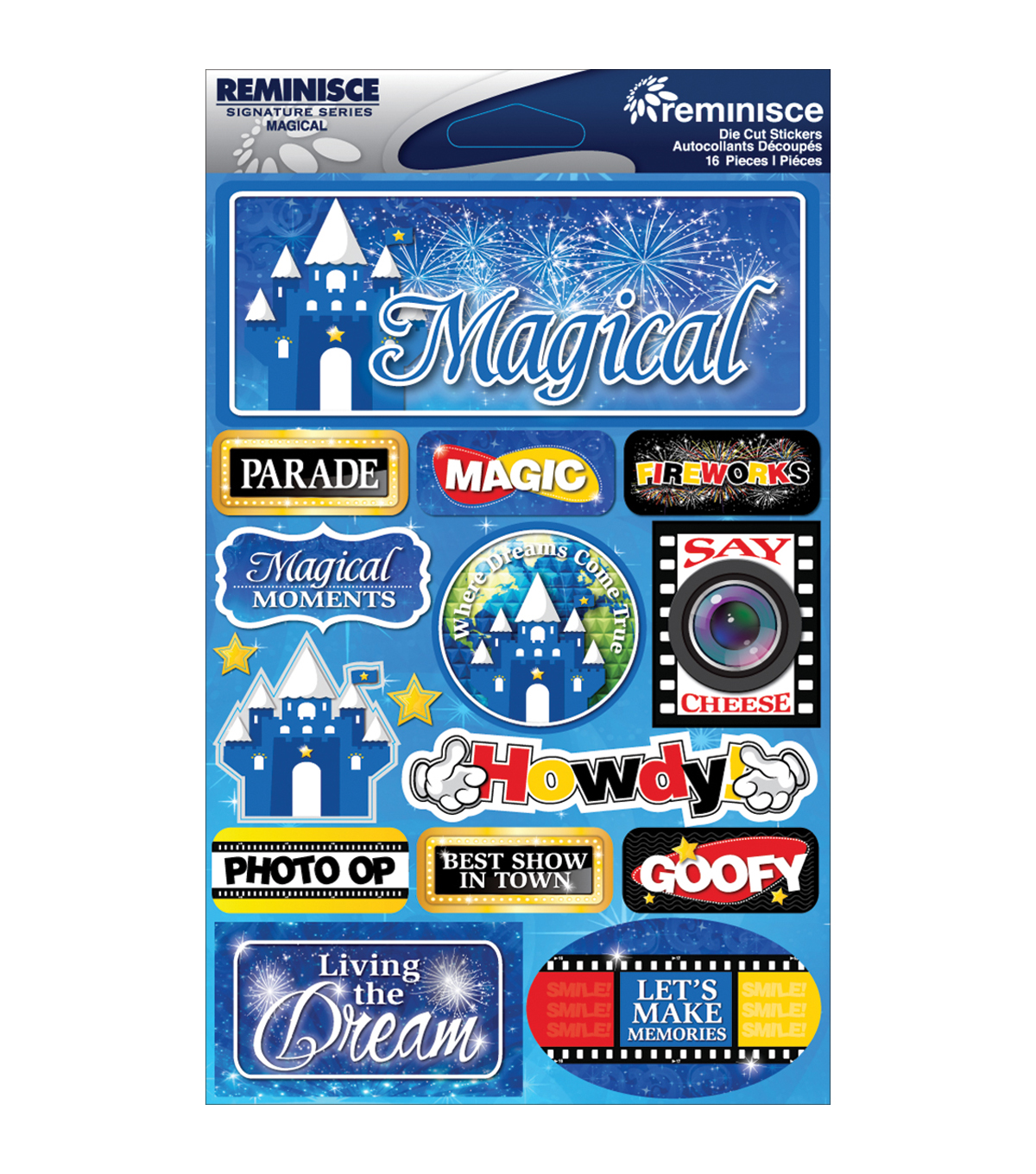 Reminisce Signature Dimensional Stickers Magical