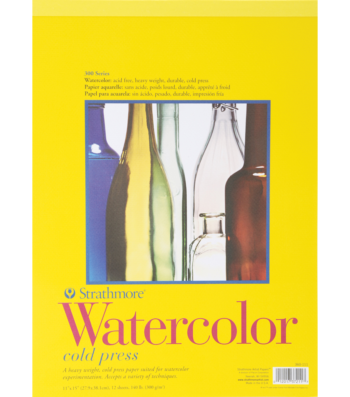Strathmore Watercolor Paper Pad 11\u0022X15\u0022-12 Sheets
