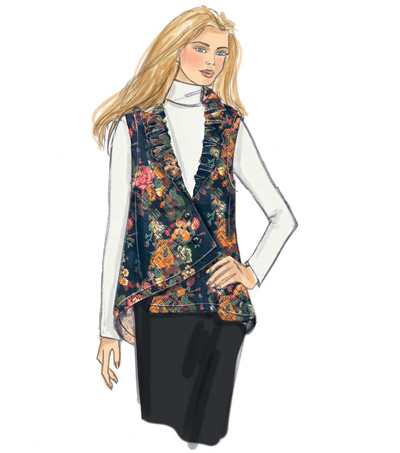 Butterick Pattern B6383 Misses\u0027 Collared Vest & Jackets-Size 16-26