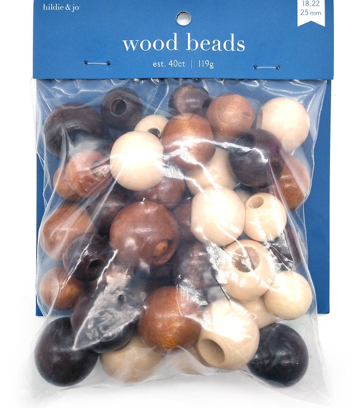 Wood Bead Nat/tan/br