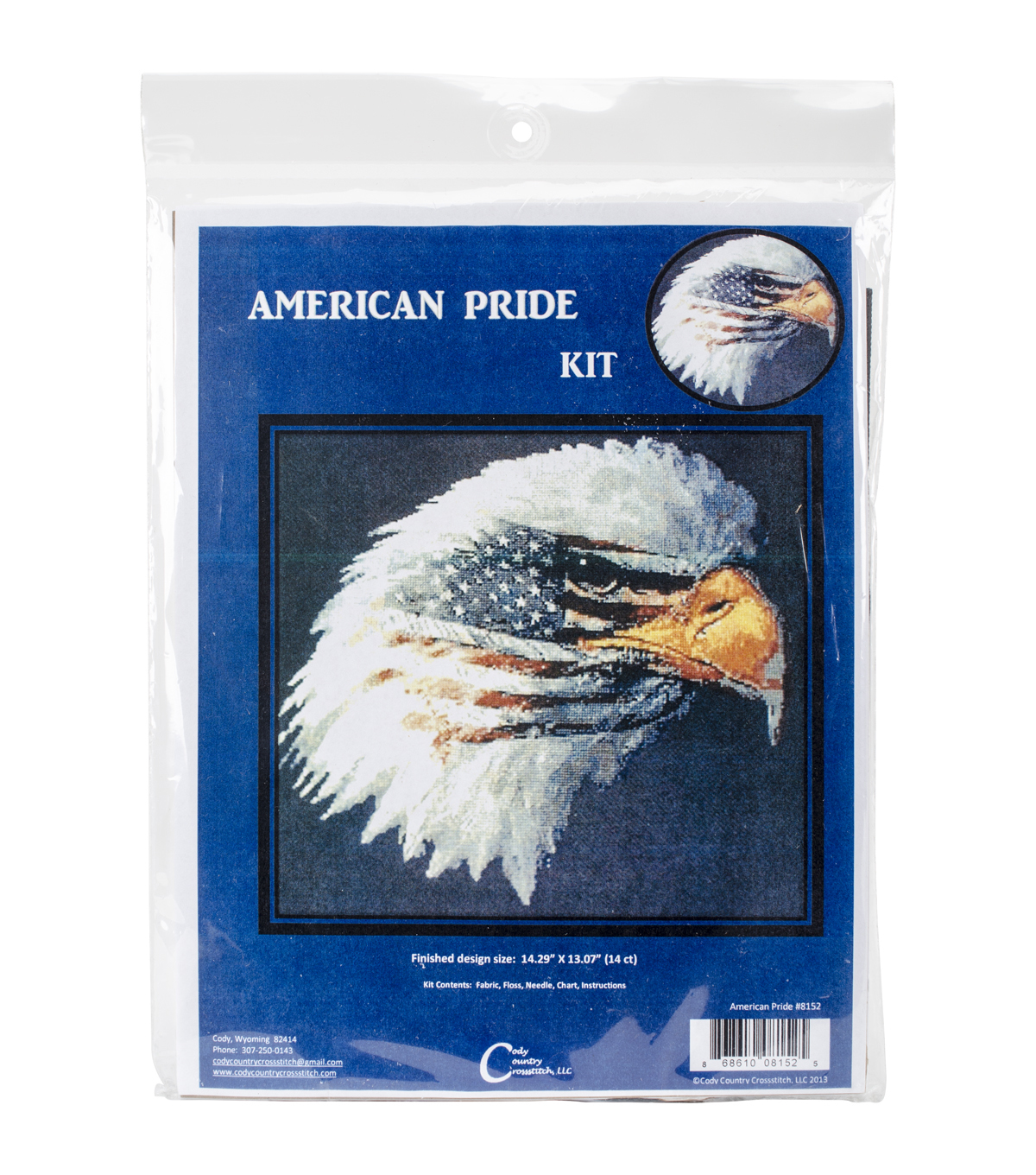 Cody Country Counted Cross Stitch Kit-American Pride