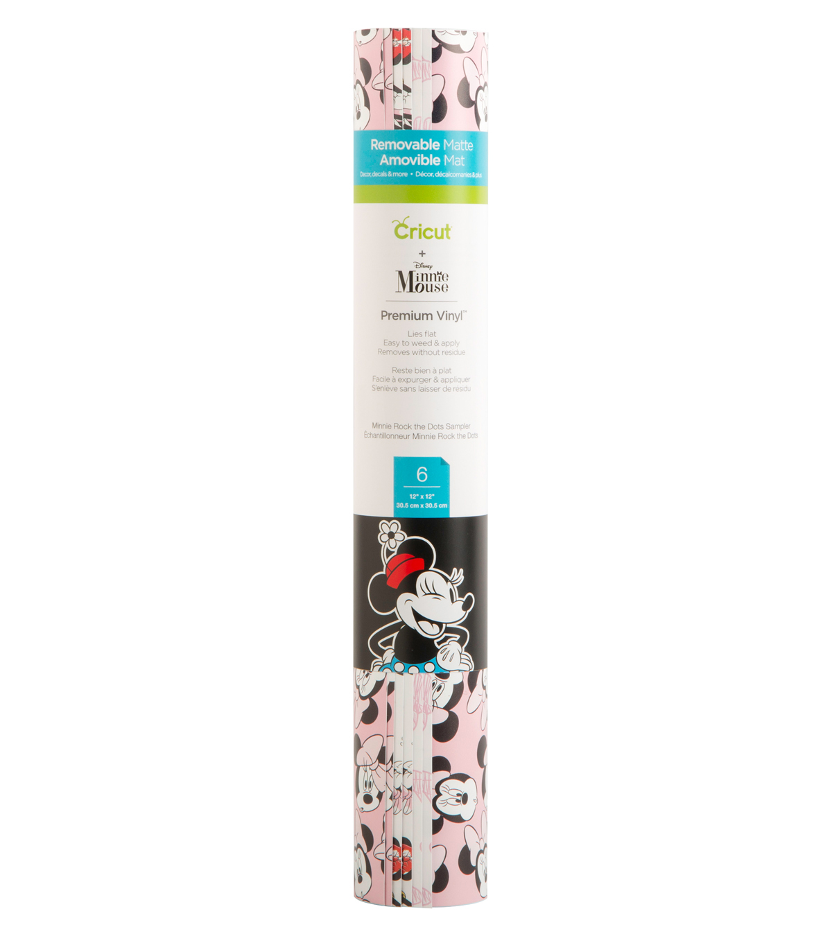 Cricut 12\u0022x12\u0022 Patterned Premium Vinyl Sampler-Minnie Mouse Dots