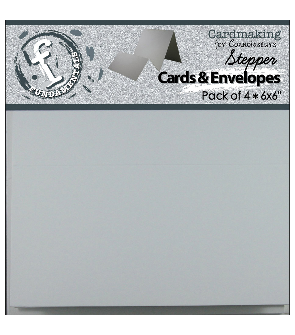Stepper Cards&Envelopes 6\u0022x6\u0022 4/Pkg-White