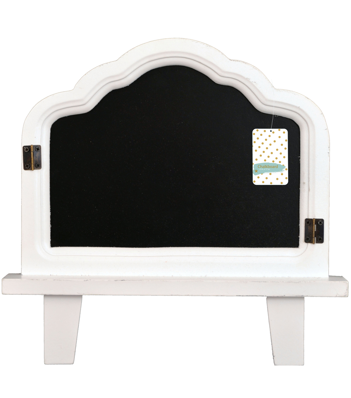 Distressed Chalboard Easel 13x13\u0022-White