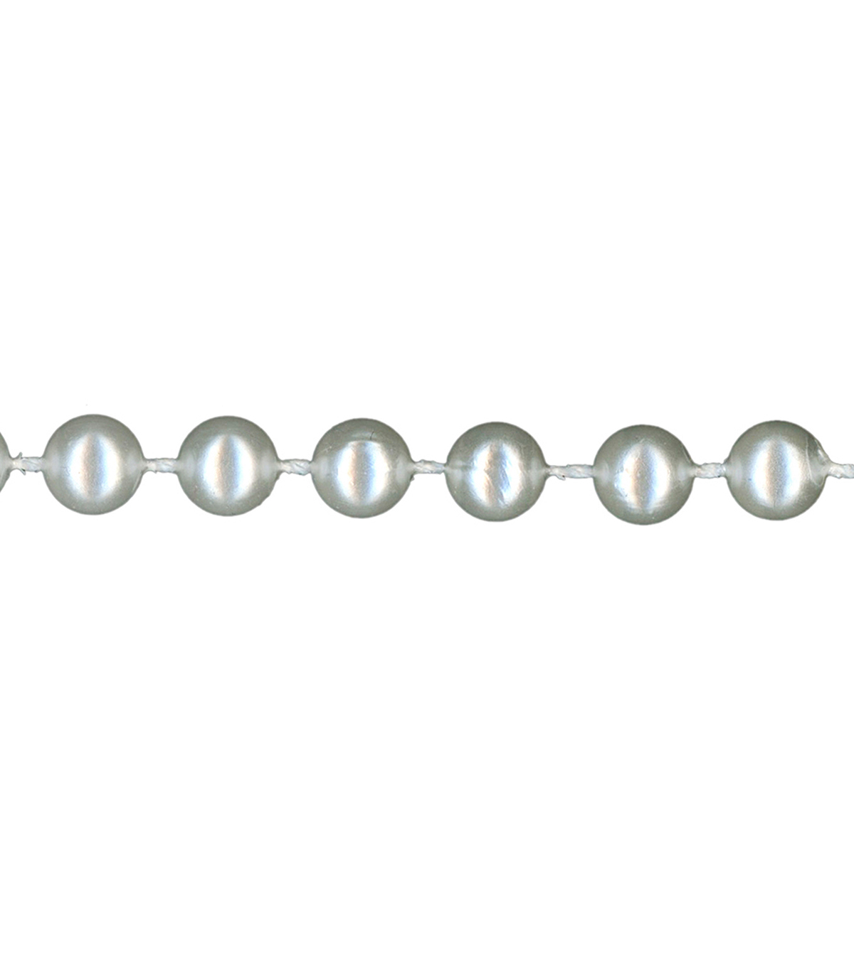 Simplicity Trims-6mm Pearls White 6Ft