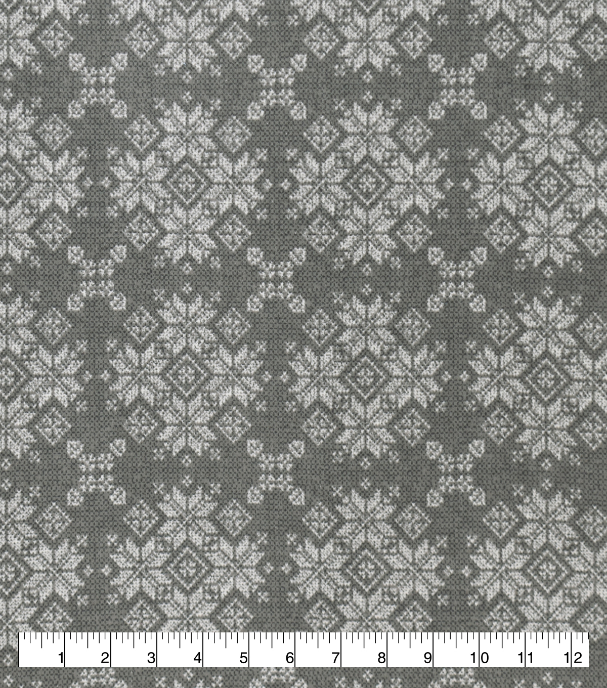 Snuggle Flannel Fabric-Gray Fairisle
