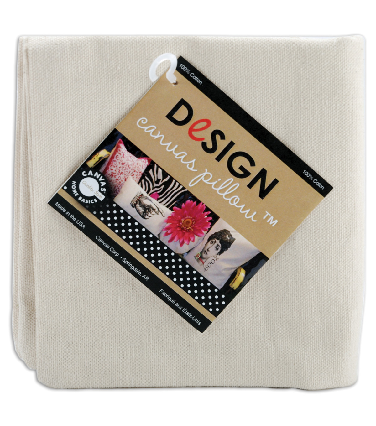 Canvas Corp Canvas Pillow Square 14\u0022 1/Pkg-Natural