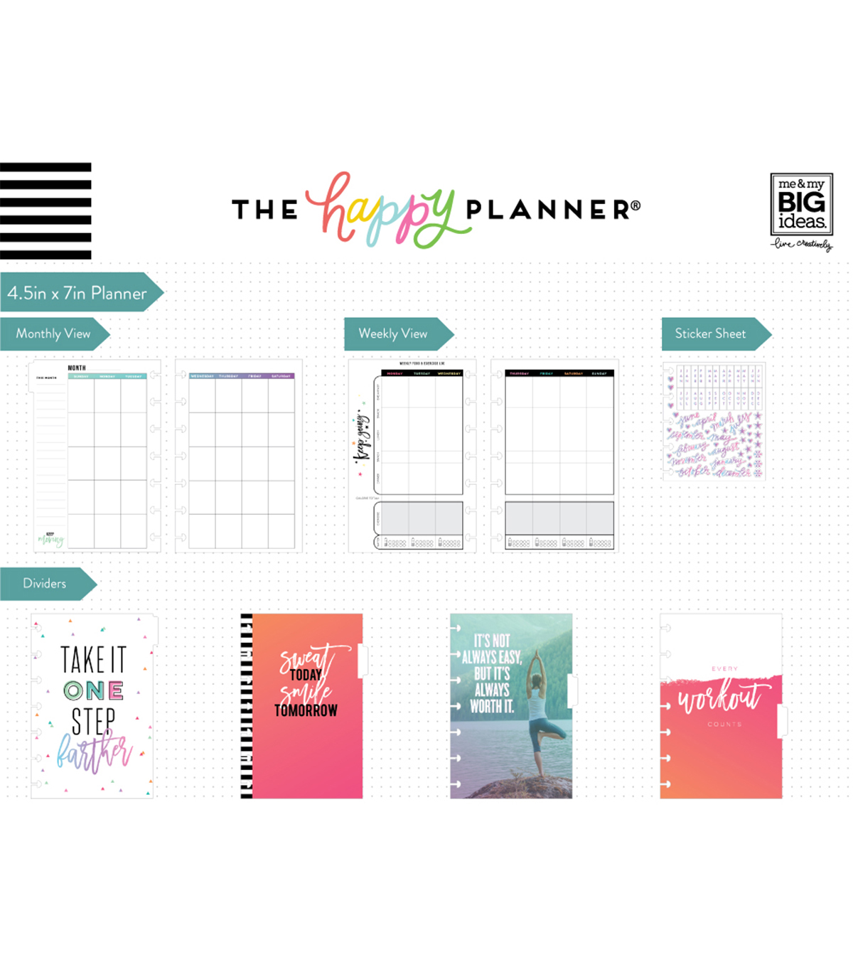 The Happy Planner 12 Month Mini Planner-Sweat Smile