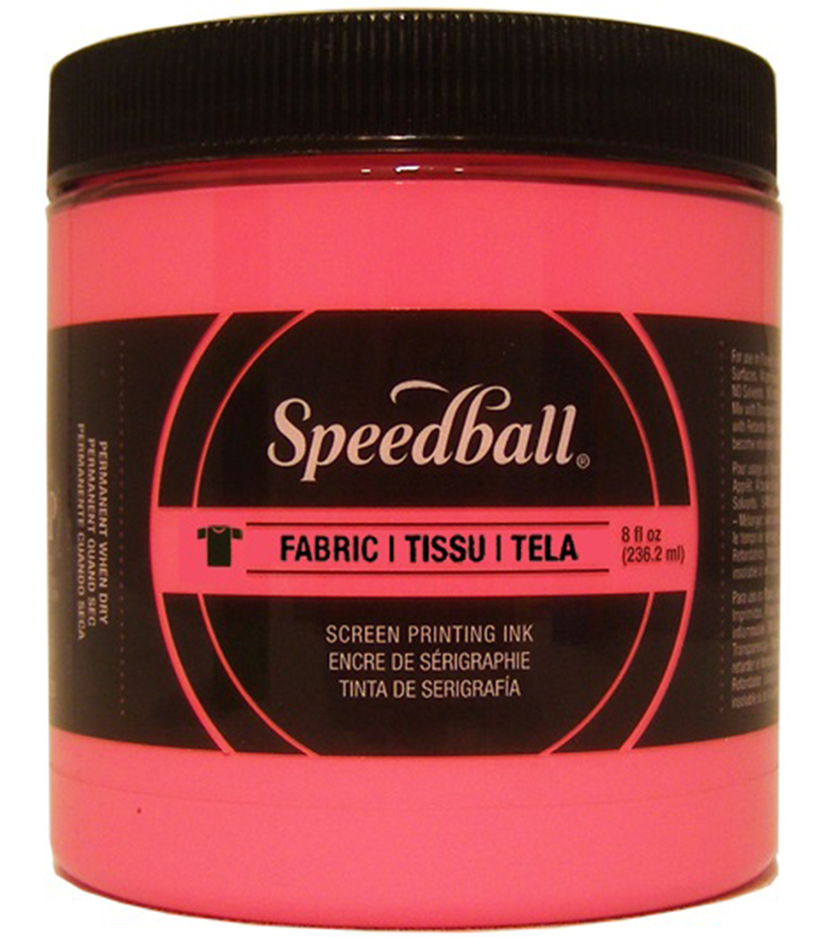 Speedball Fabric Screen Printing Ink Fluorescent 8oz, Hot Pink