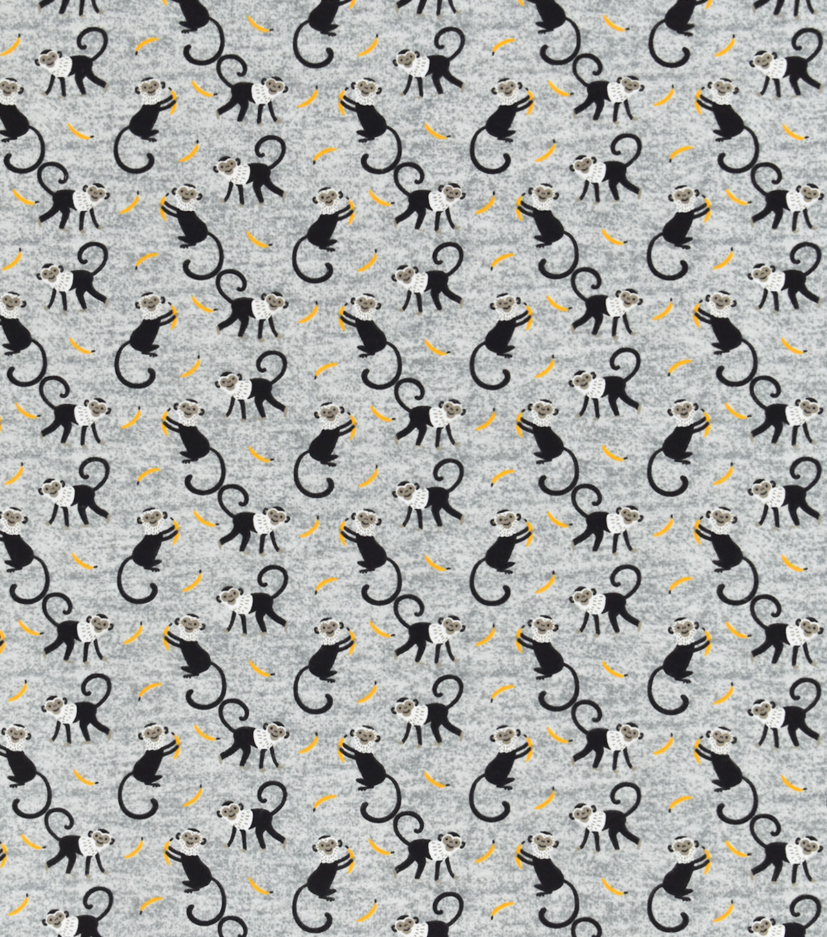 Snuggle Flannel Fabric-Tossed Monkeys & Bananas