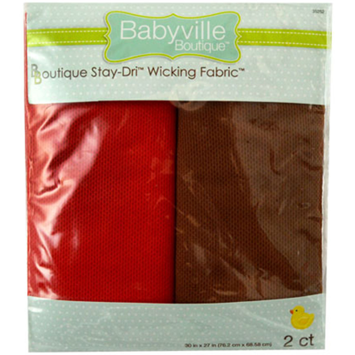 Babyville Boutique 30\u0022 x 27\u0022 Wicking Fabric Red Brown