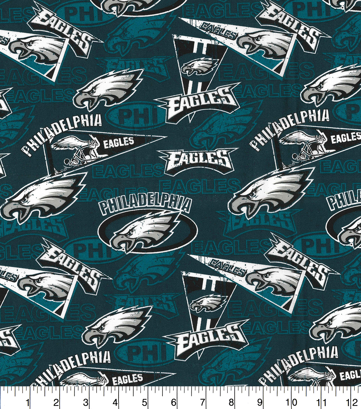 Philadelphia Eagles Cotton Fabric-Retro