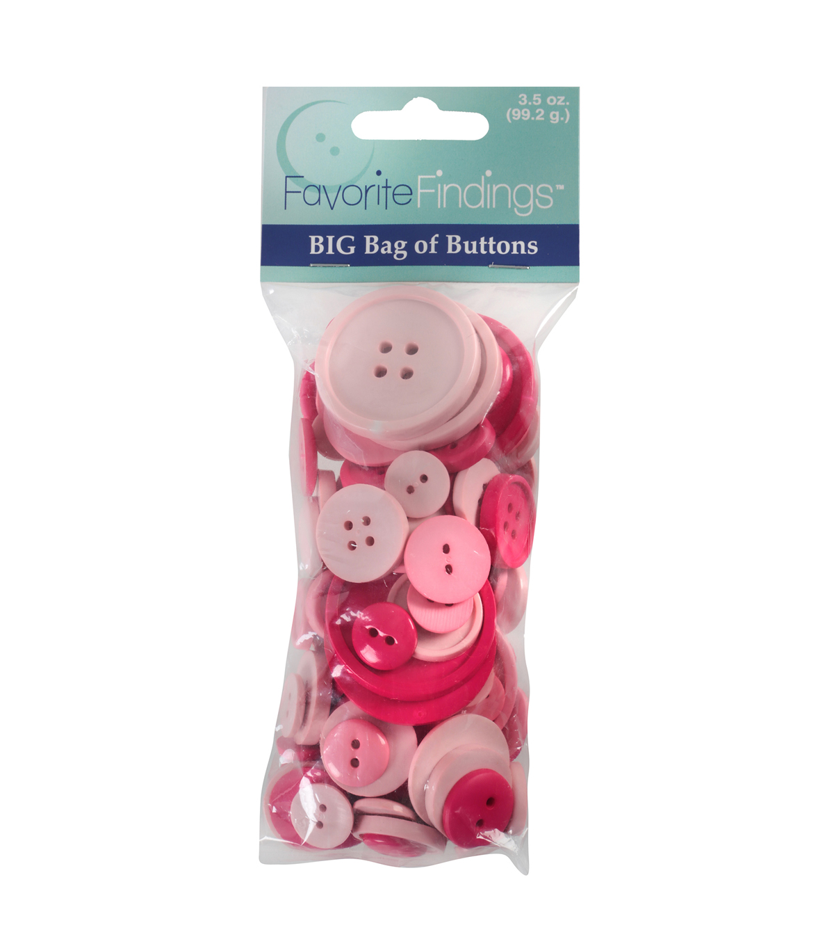 Favorite Findings  3.5 oz. Value Pack Buttons-Shades of Pink