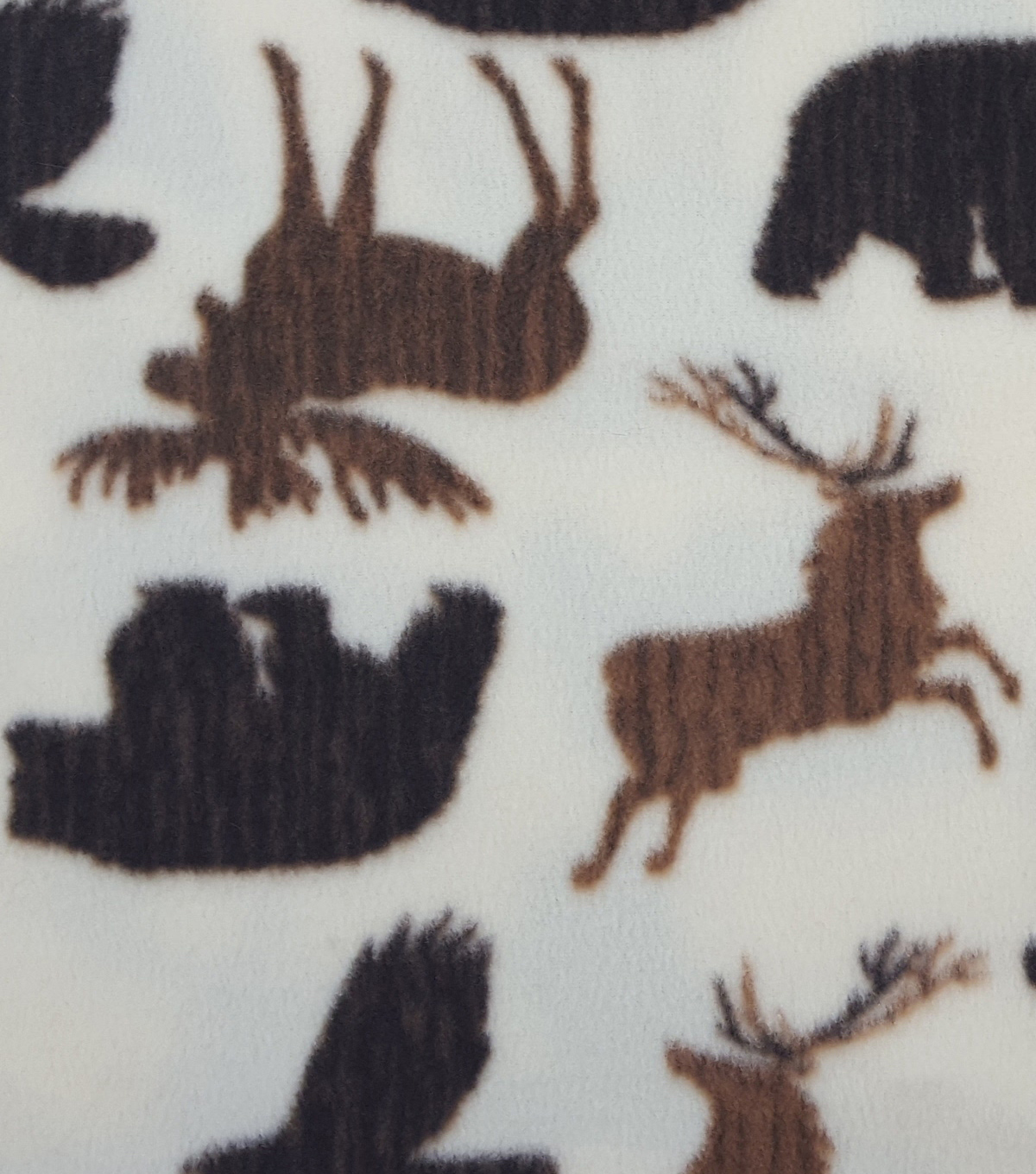 Anti-Pill Fleece Fabric 59\u0022-Wild Animals