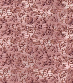 Vintage Cotton Fabric 43\u0027\u0027-Pink Floral & Lace