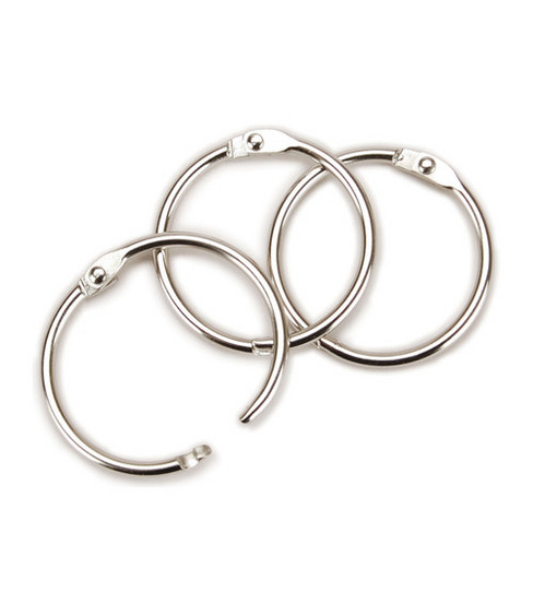 Clear Scraps Chrome Book Ring 1.25\u0022 100/Pkg