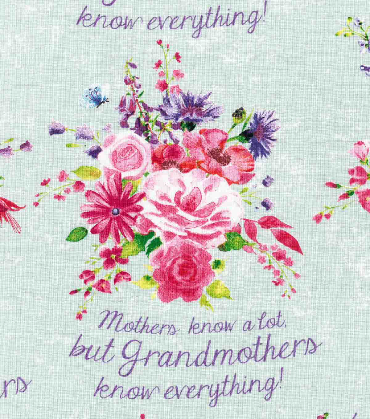 Novelty Cotton Fabric- Mothers Know A Lot