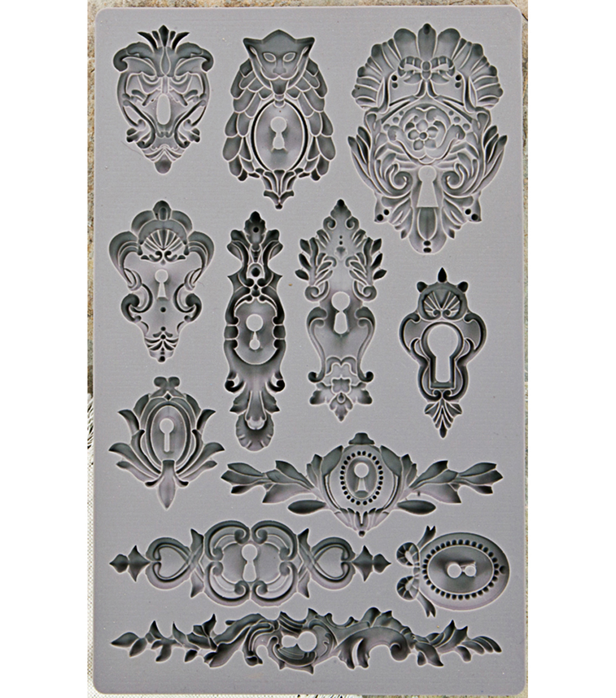 Iron Orchid Designs Vintage Art Decor Mould 5\u0022X8\u0022-Keyholes