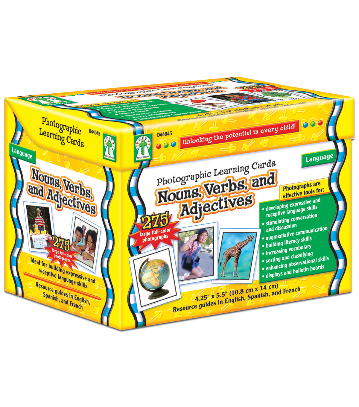 Carson-Dellosa Nouns, Verbs, and Adjectives Photographic Learning Cards