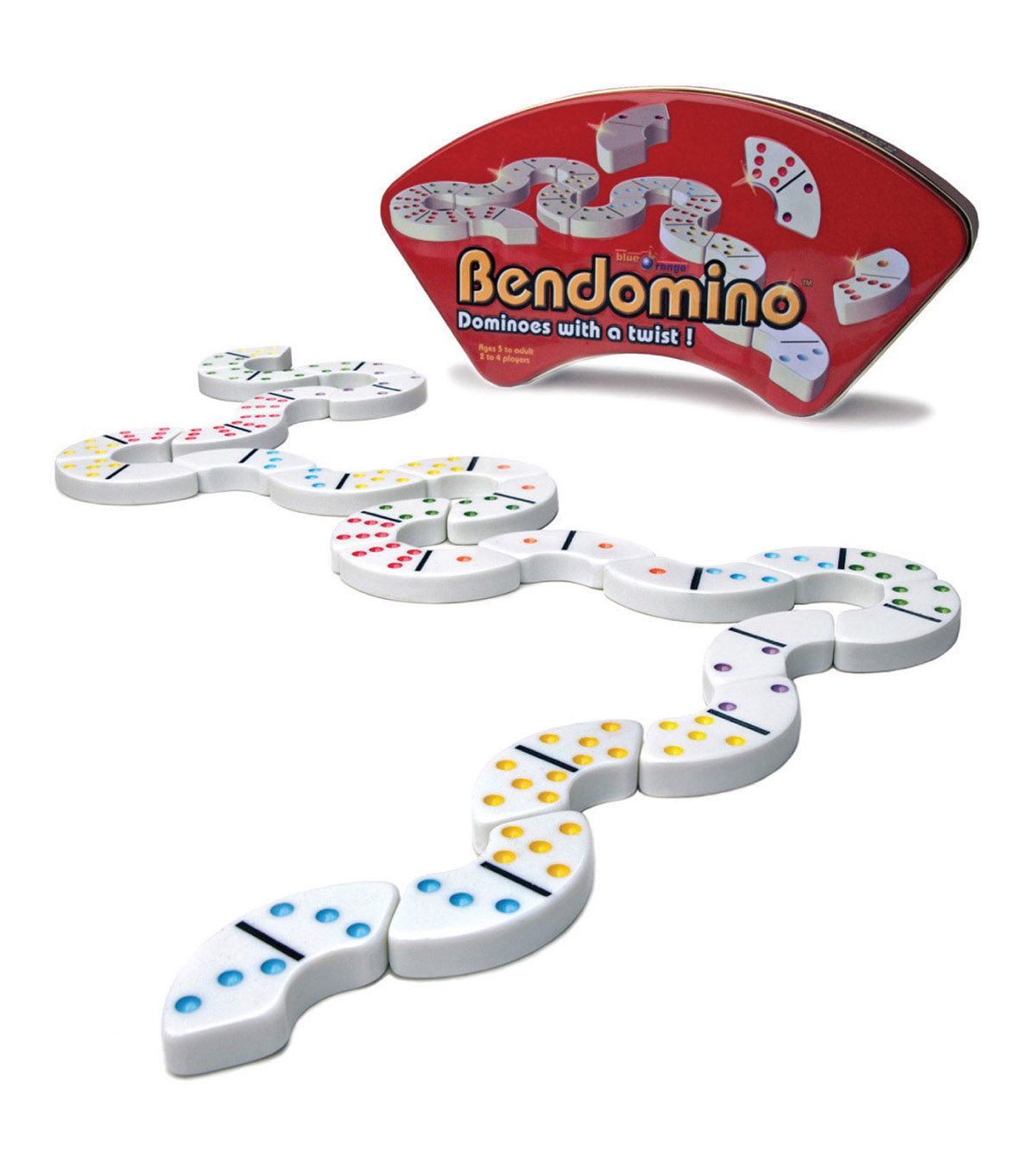 Blue Orange Games Bendomino Game, Ages 6 to Adult, 2-4 Players