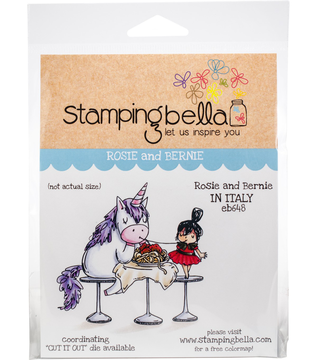 Stamping Bella Cling Stamps-Rosie & Bernie In Italy