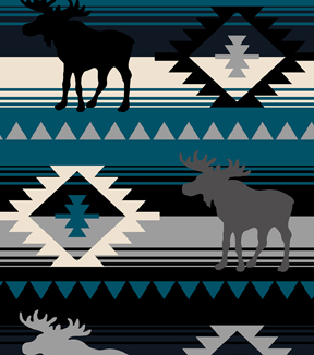 Anti-Pill Fleece Fabric -Moose Blue