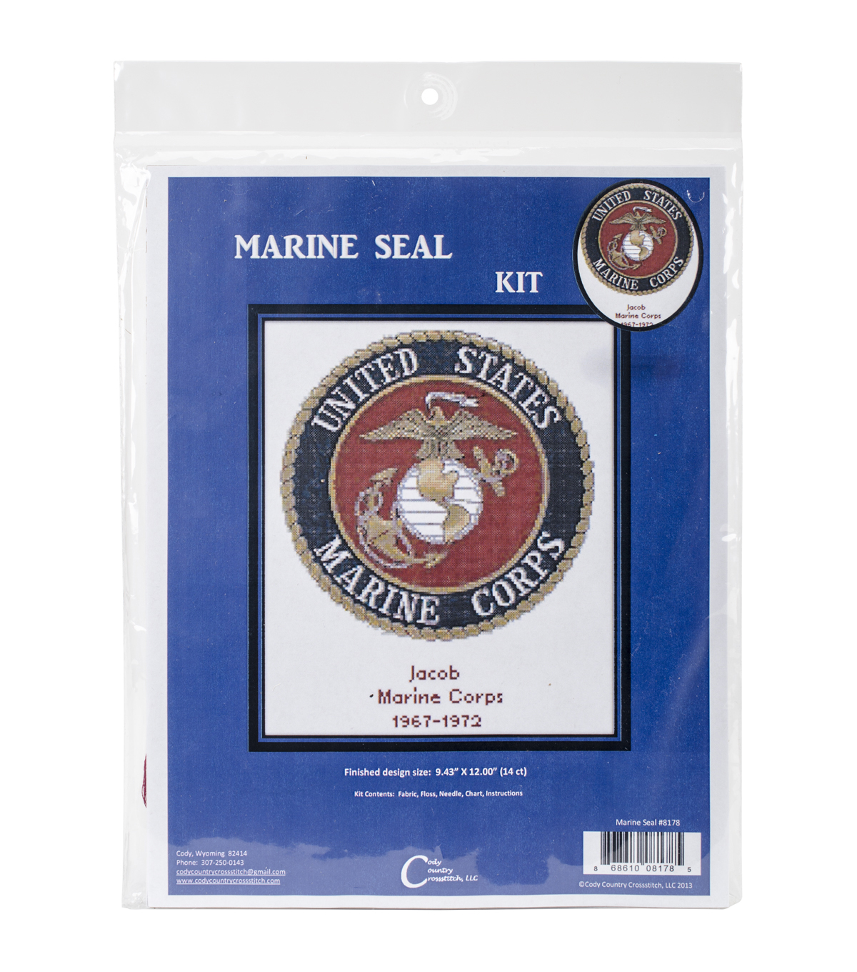 Cody Country Counted Cross Stitch Kit-U.S. Marine Corps Emblem