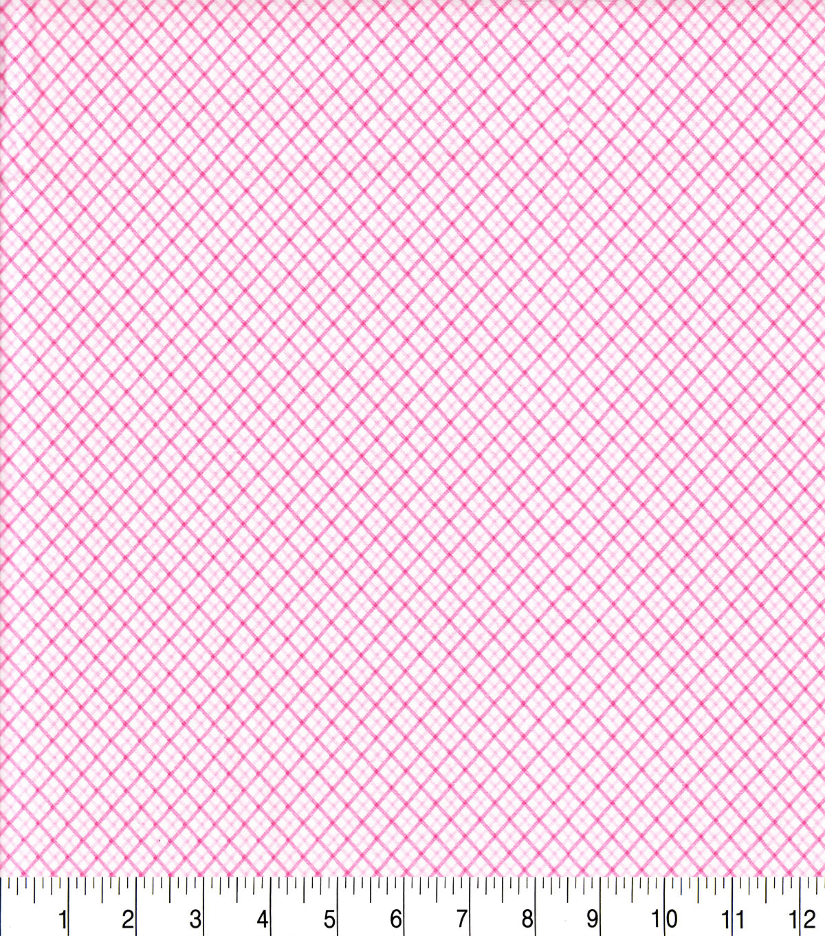 Snuggle Flannel Fabric -Pink Diagonal Plaid