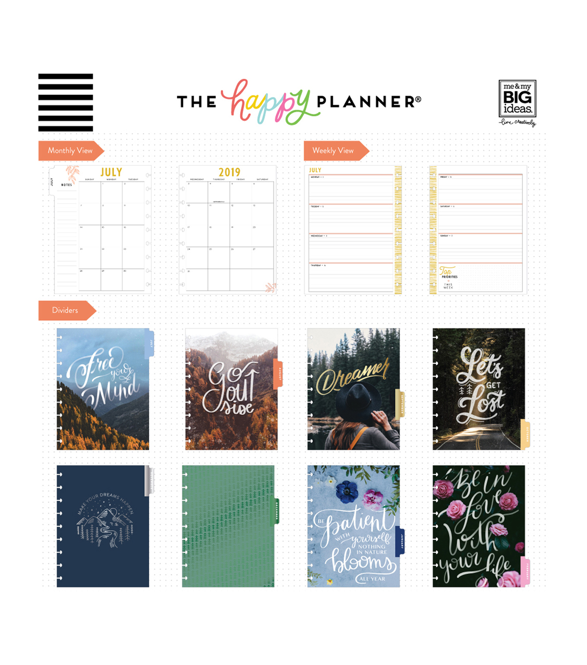 Me & My Big Ideas The Happy Planner 18 Month Planner-Let\u0027s Get Lost