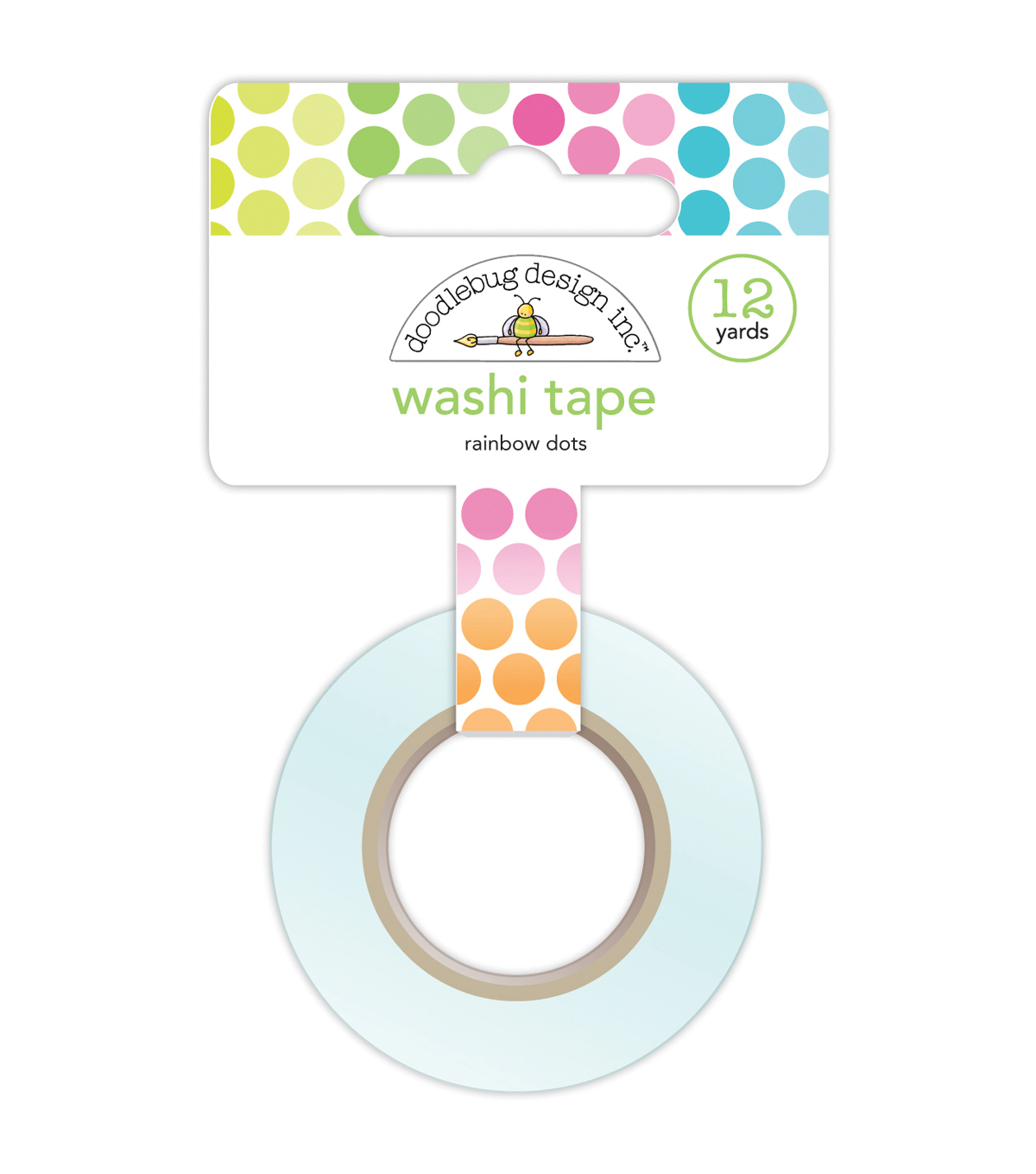 Washi Tape 15mmX12yd-Rainbow Dots
